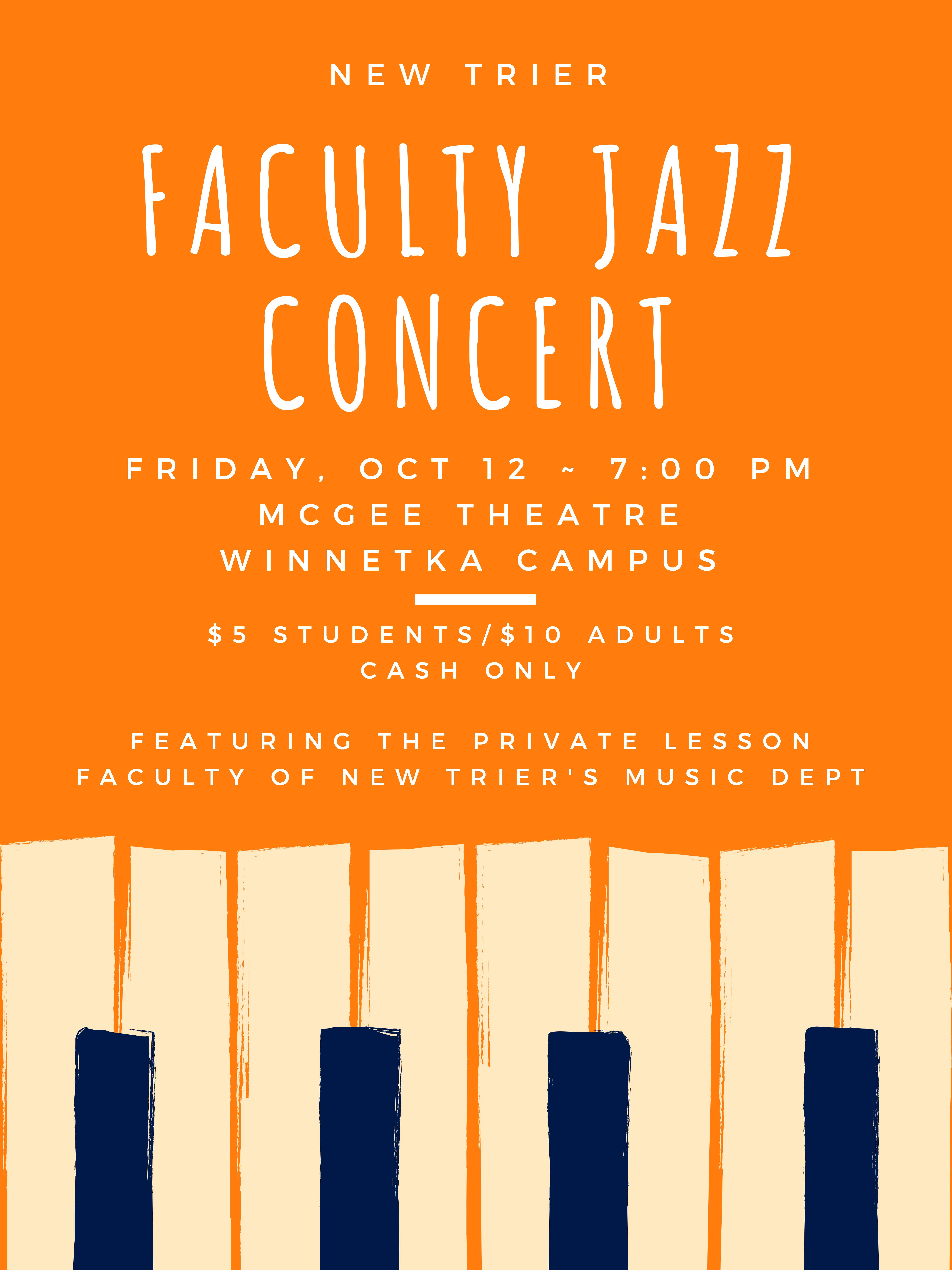 New Trier Faculty Jazz Concert